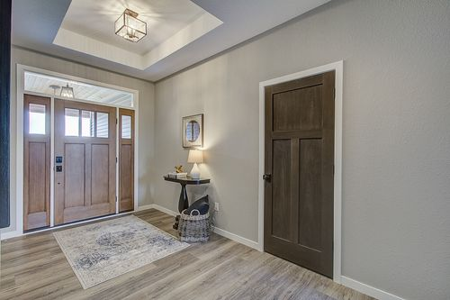 Foyer in a modern new home in Milwaukee WI