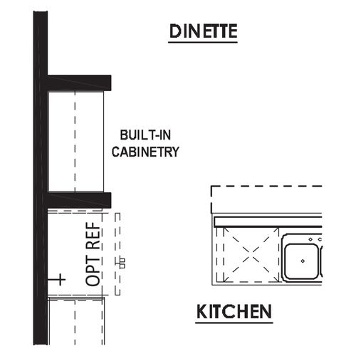 Optional Dinette Built-In Cabinetry