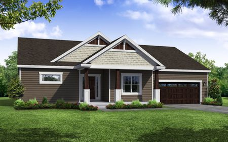 Front Exterior Rendering of Arbordale Craftsman Elevation