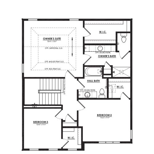 Mulberry Second Floor Plan Drawing