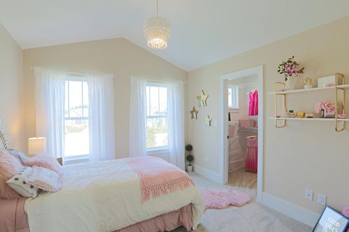 Bedroom in a Milwaukee-area new home