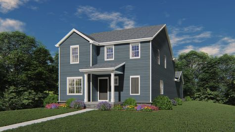 Chagall Traditional Front Elevation Rendering