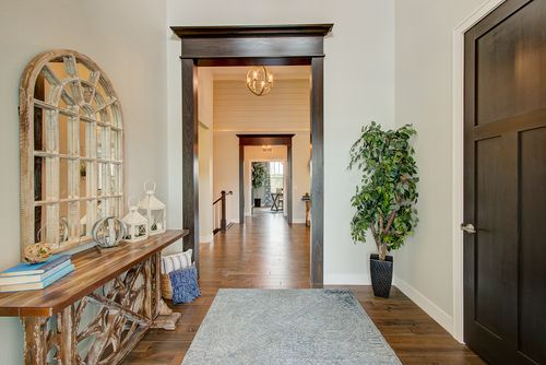 Entrance to a model home by Milwaukee home builders Tim O'Brien