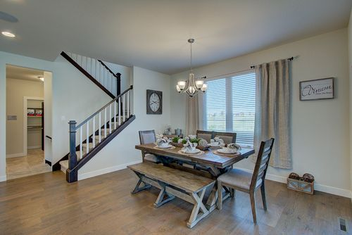 Dinette in a new home by builders, Tim O'Brien