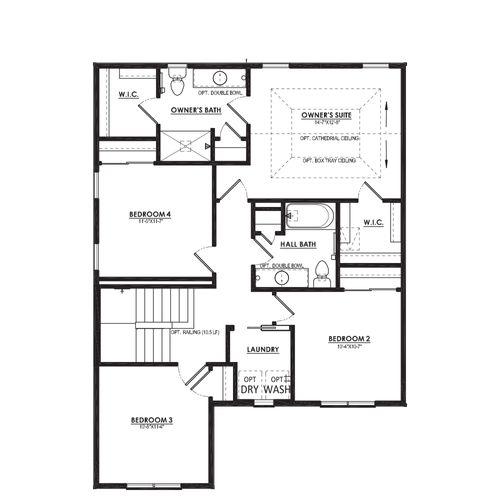 Ivy Second Floor Plan Drawing