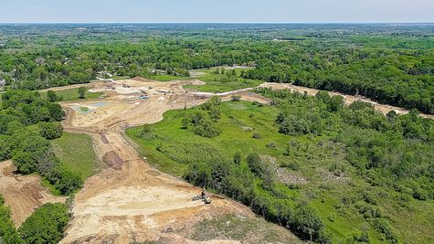 Aerial View of Woodland Preserve
