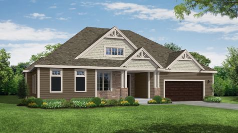 Rendering of the Galway Craftsman Front Elevation