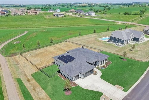 Aeriel view of the exterior a Tim O'Brien new home