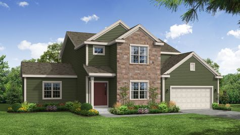 Carlow Traditional Front Elevation Rendering