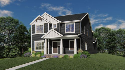 Chagall Craftsman Front Elevation Rendering
