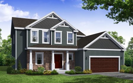 Ashbury Craftsman Front Elevation Rendering