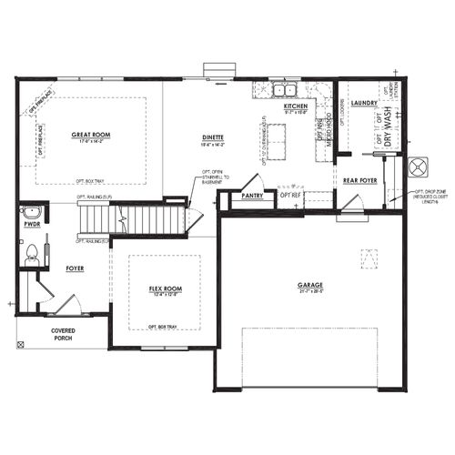 Silverwood First Floor Plan Drawing