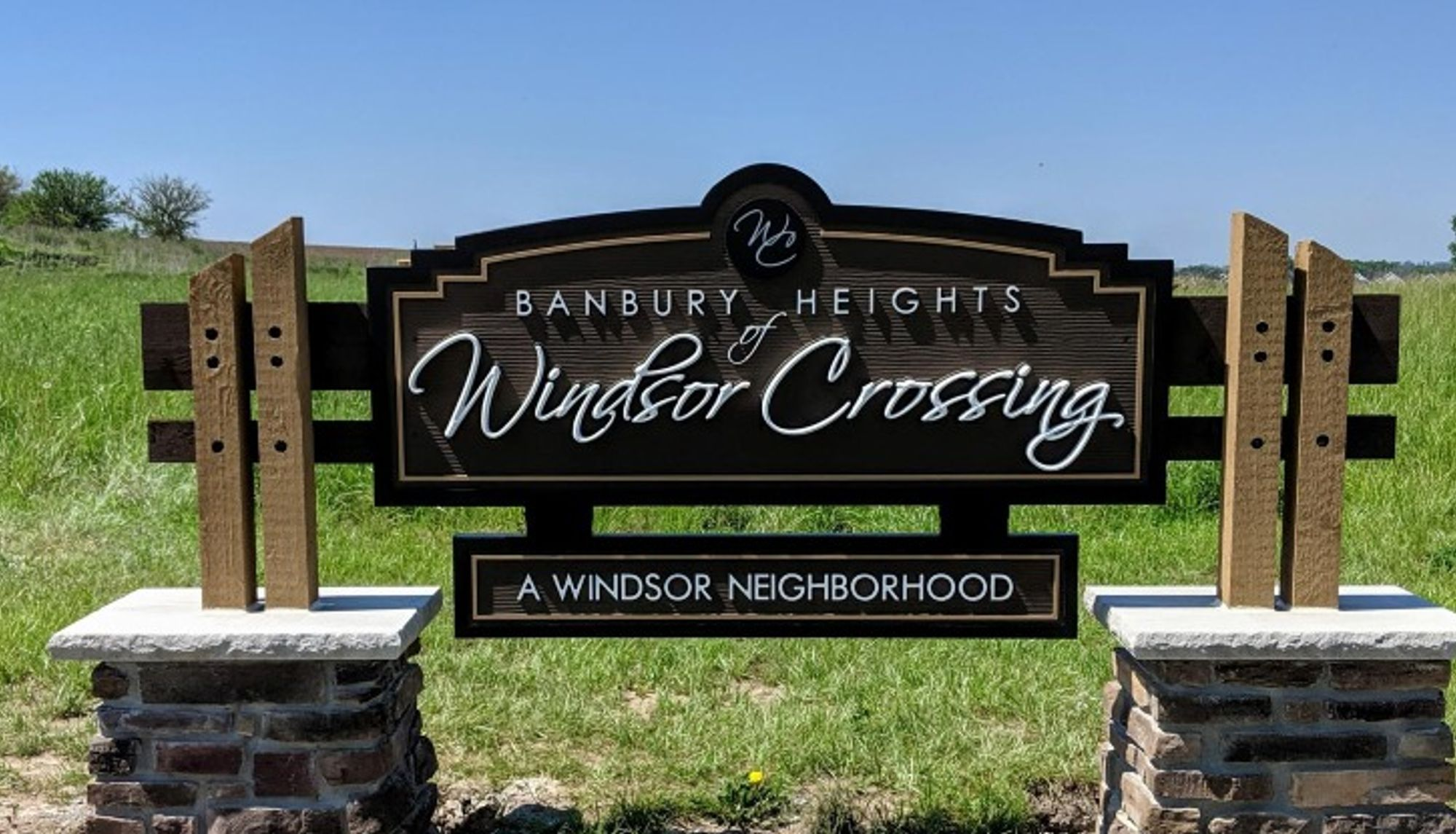 Windsor Crossing new home community sign
