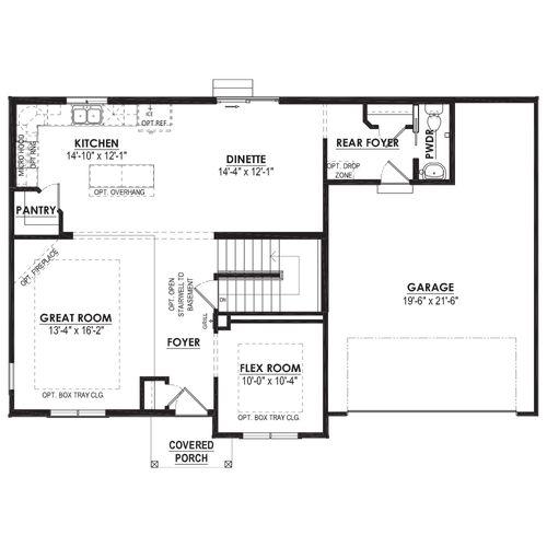 Mahogany First Floor Plan