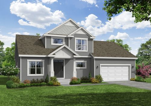 Alpine Craftsman Front Elevation Rendering