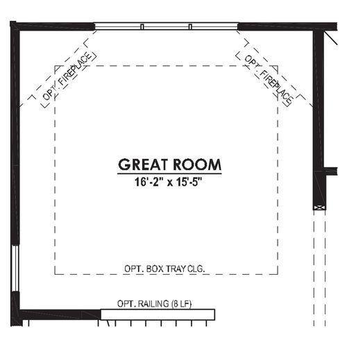 Optional Great Room with Rear Foyer Door