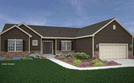 Rendering of new ranch home in Summit WI