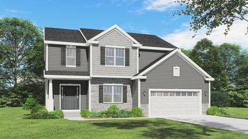 Silverwood Craftsman front elevation rendering