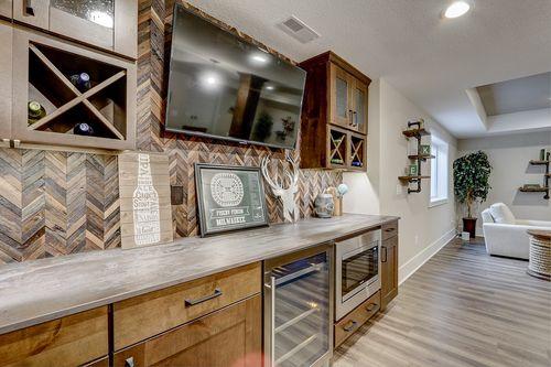 Milwaukee home builders' model home basement kitchen