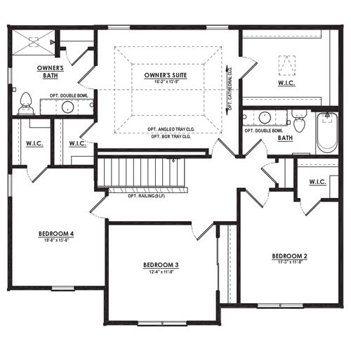 Silverwood Second Floor Plan Drawing