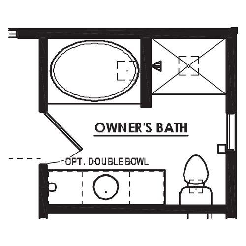 Optional Luxury Owner's Bathroom