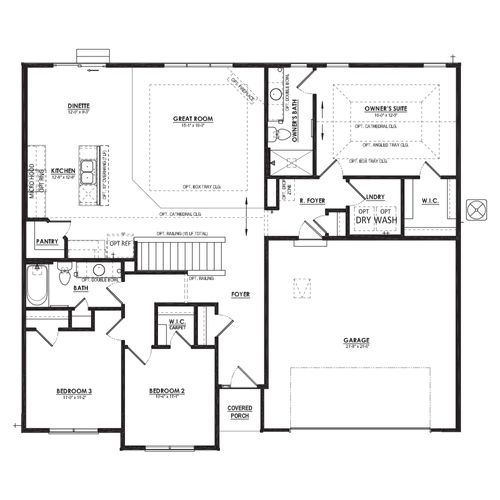 Chestnut First Floor Plan Drawing