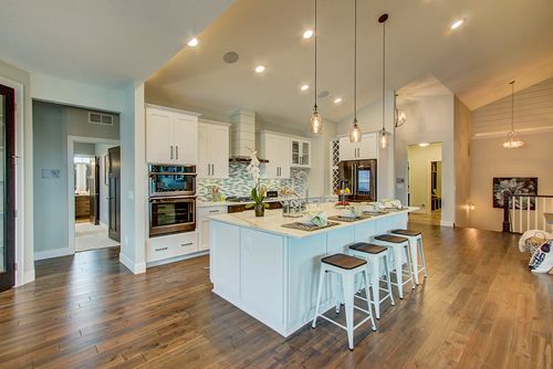 White kitchen in a Madison-area new home