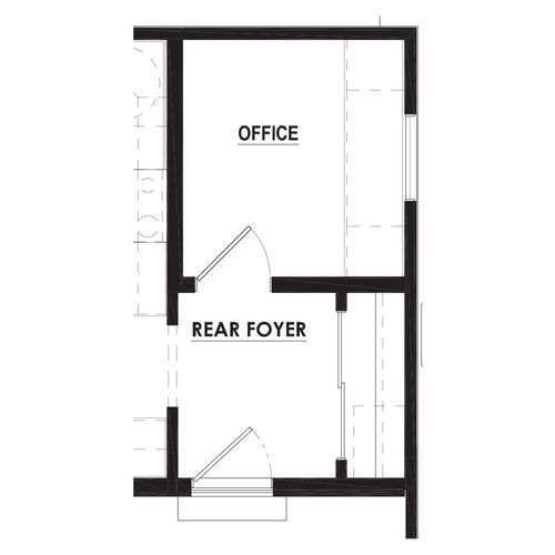 Optional Rear Foyer Pocket Office