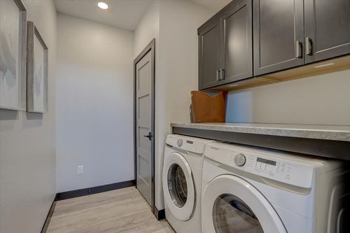 Laundry room in a new construction home