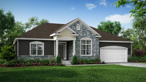 Front Exterior Rendering of Arbordale Classic Elevation