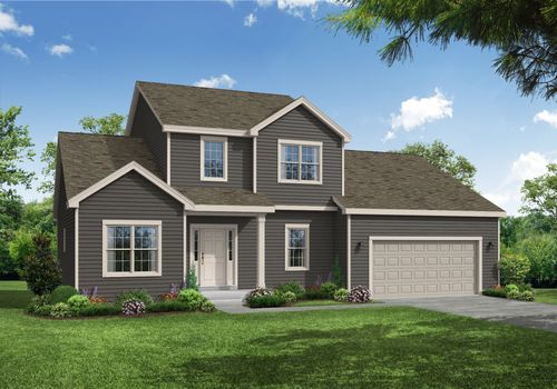 Alpine Traditional Front Elevation Rendering
