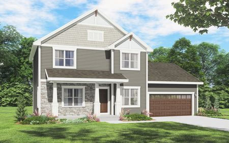 Mahogany Craftsman Front Elevation Rendering