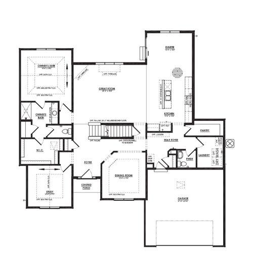 Drawing of Azalea First Floor Plan