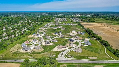 Aerial view of new homes in Mequon WI