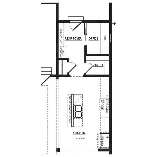 Optional Expanded Rear Foyer