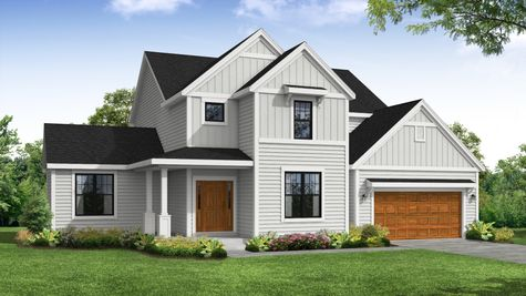 Carlow Farmhouse Front Elevation Rendering