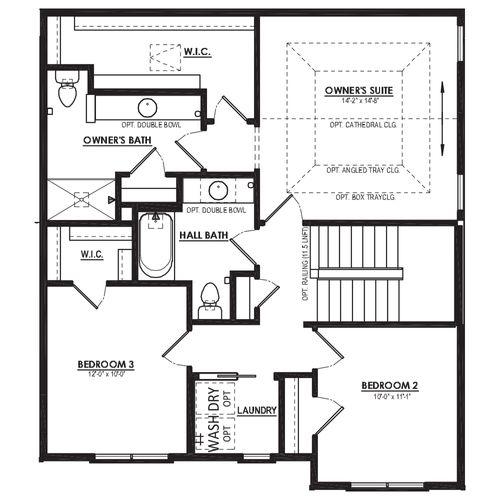 Optional Alternate 3 Bedroom Second Floor