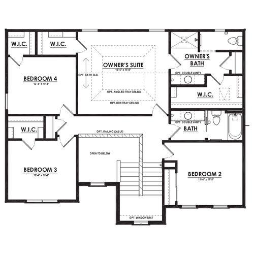 Canterbury Second Floor Plan Drawing