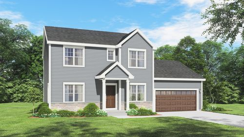 Mahogany Traditional Front Elevation Rendering