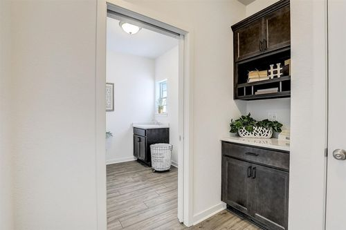 Laundry Room with storage in a Milwaukee home