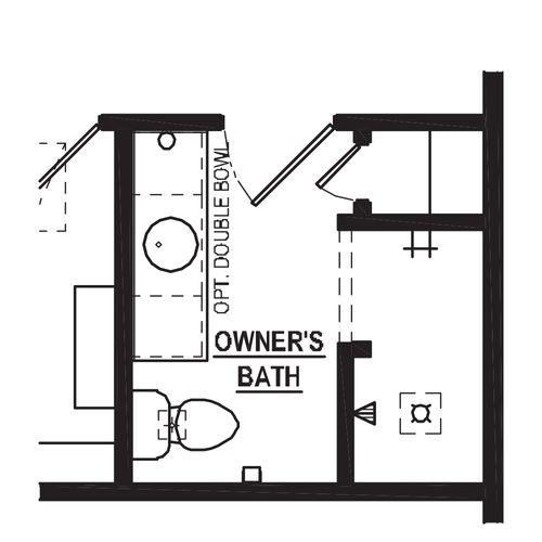 Optional 4 Bedroom Walk-In Shower