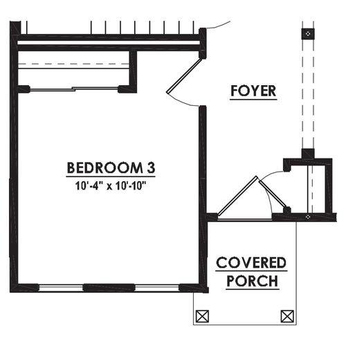 Optional First Floor Bedroom