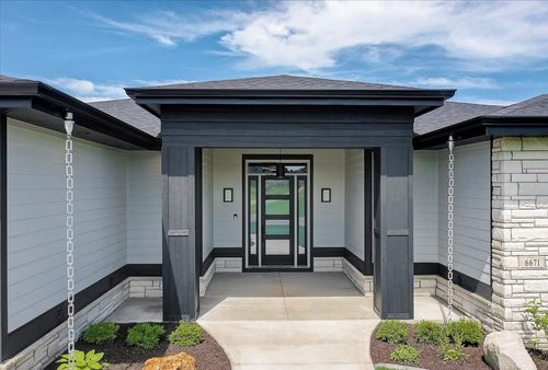 Front Entrance of a new home in Milwaukee MI