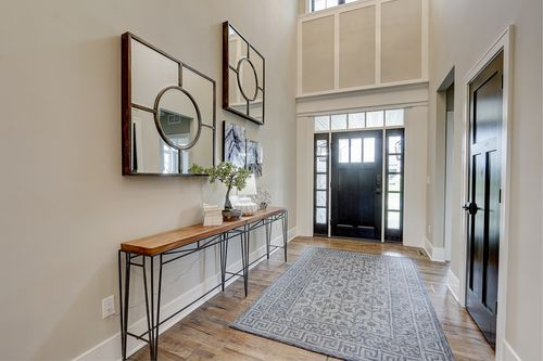 Front entryway in a new home in Madison WI