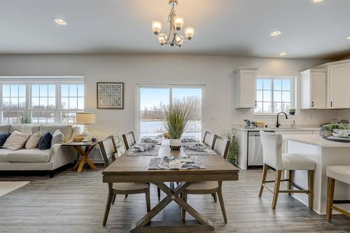 Dining area by Wisconsin home builder, Tim O'Brien