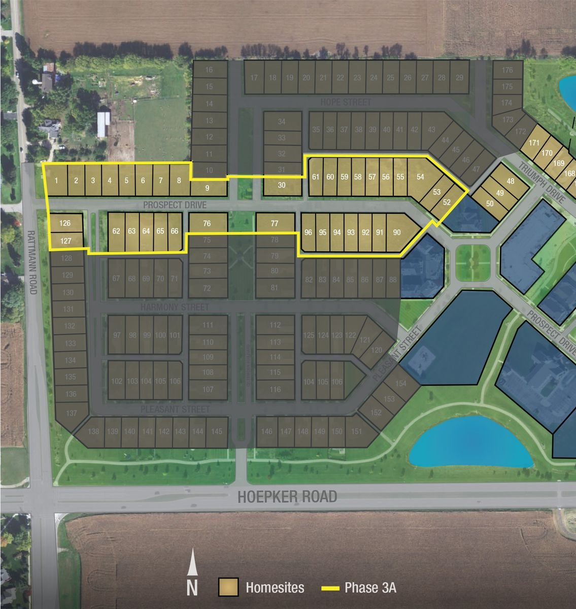 Map of available new homes in Sun Prairie WI