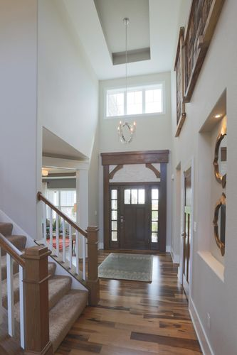 Expansive foyer in a Wisconsin area new home