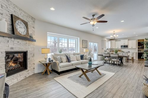 Open floor plan in a Tim O'Brien home in Madison, WI