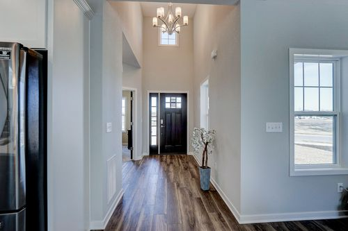 High ceilings in foyer of a Milwaukee-area new home