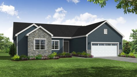 Holly Traditional Front Exterior Rendering
